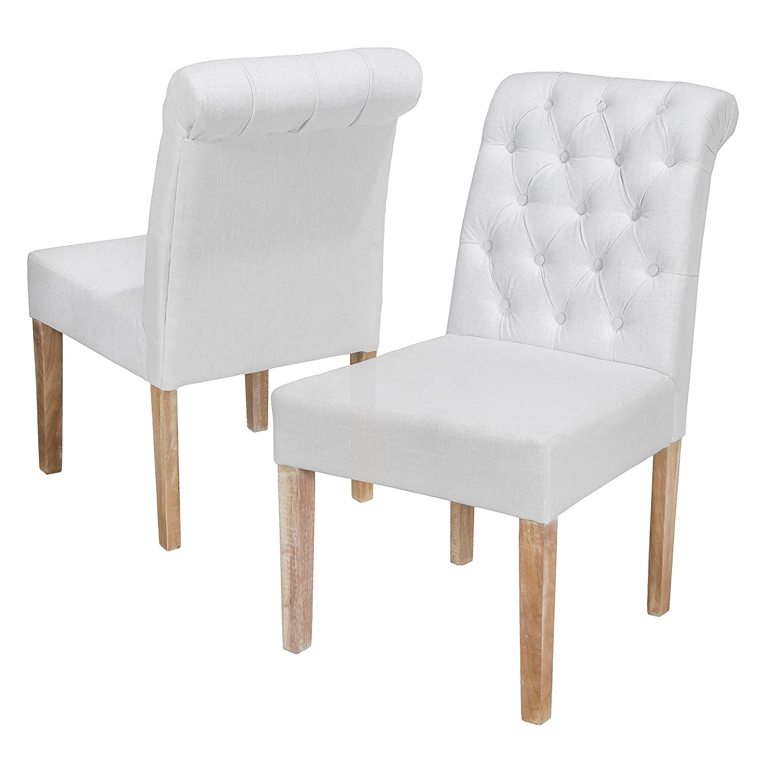 Amazon.com - Best-selling Darla Tufted White Fabric Dining ...