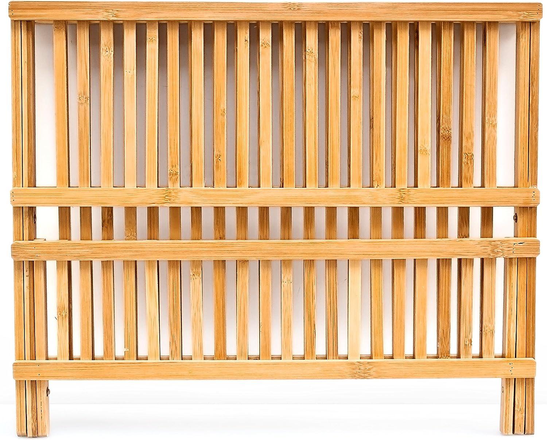 Natur Relaxdays Abtropfgestell Cross HBT 24,5 x 47 x 33,5 cm Abtropfgitter Bambus klappbar Geschirrabtropfer f/ür Teller und Tassen als Geschirr Abtropfkorb und Holz Geschirrkorb mit Bestecksammler