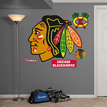 Merveilleux NHL Chicago Blackhawks Logo Fathead Wall Decal, Real Big