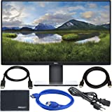 "Dell P2719H 27"" 16:9 IPS Monitor + Display Port Cable + ZoomSpeed HDMI Cable + USB 3.0 Cable + AOM Microfiber Cleaning…"