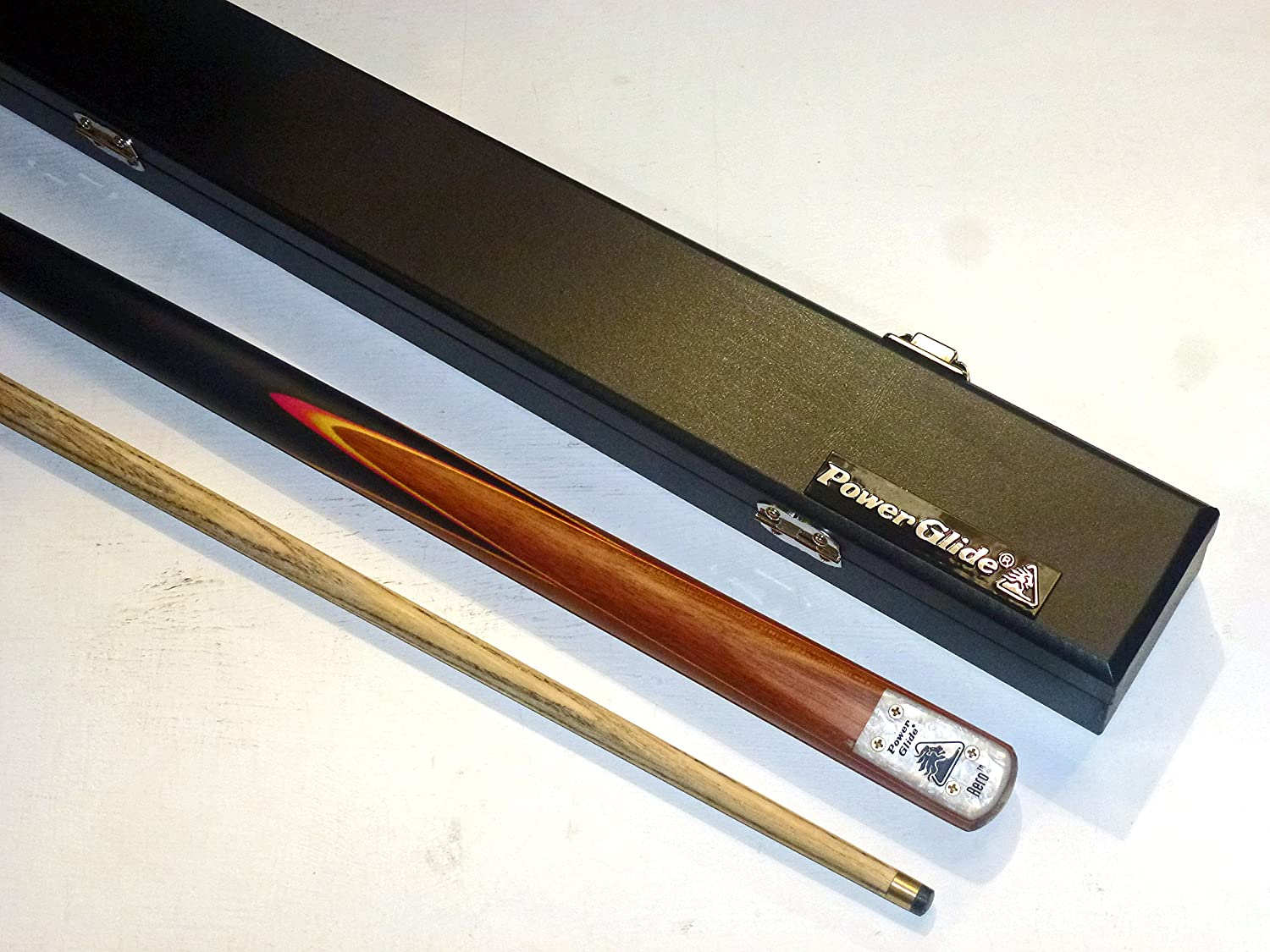 POWERGLIDE 2PC ASH SNOOKER CUE AND HARD CASE SET**