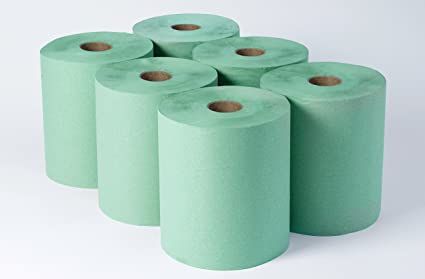 Cartuchos de papel ubre lácteos para toallitas húmedas - verde 2ply 56 gsm 140 metre 2