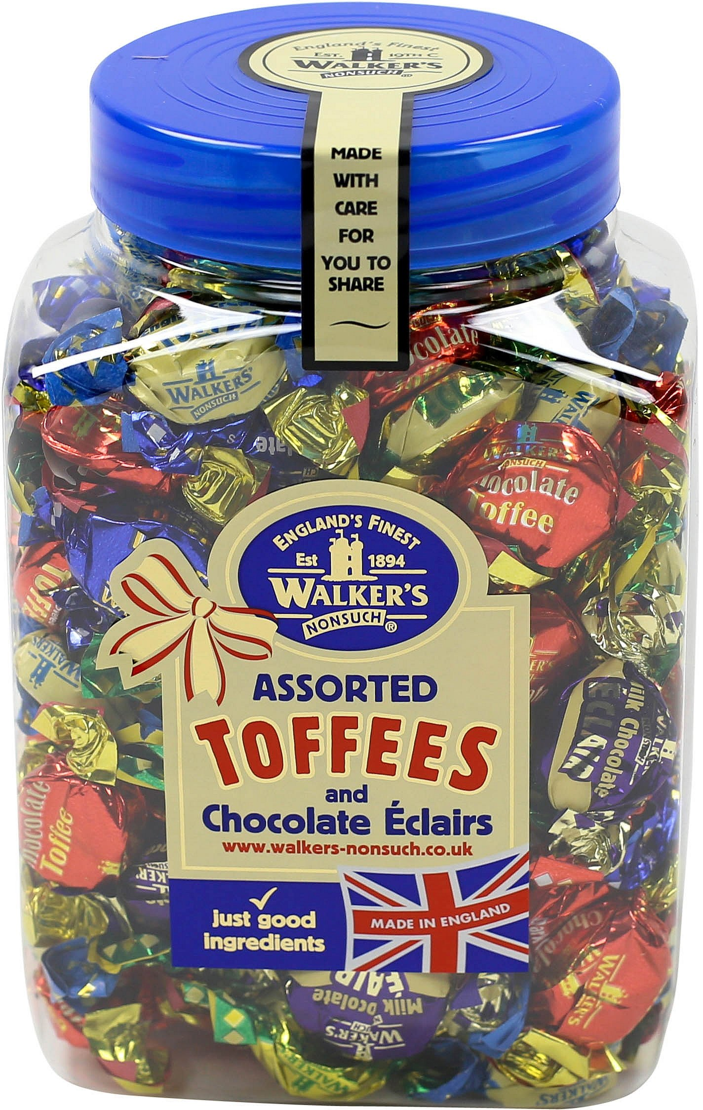 Office Snax OFX94054 Walker's Assorted Royal Toffees, Reclosable Candy Tub, 2.75-Pound Tub by Office Snax