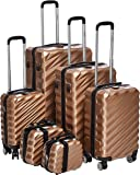 Capital Hardside spinner luggage set of 6pcs with 3 digit number Lock -Brown