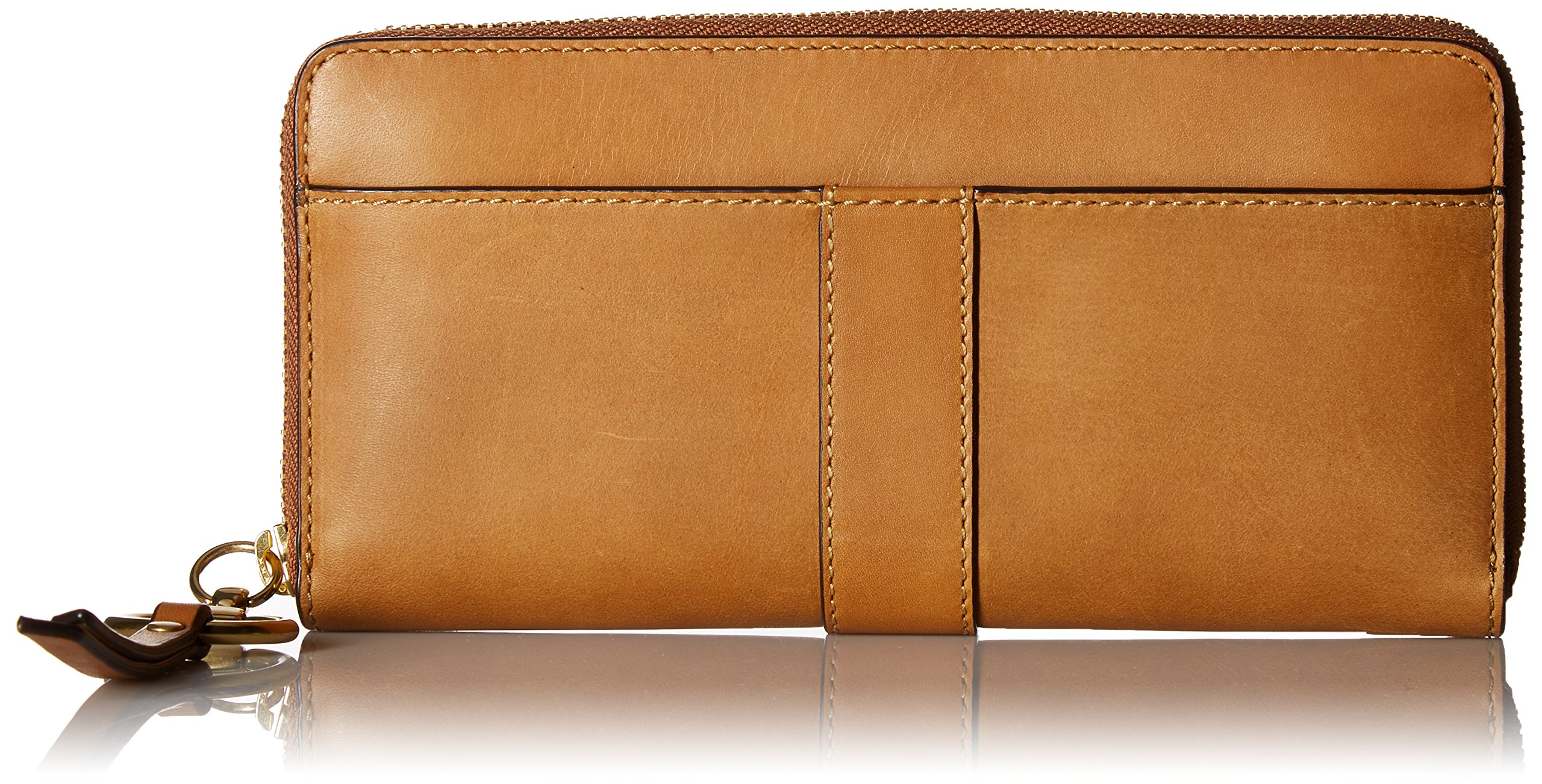 Ilana Harness Zip Wallet Antique Veg Tan Wallet, COGNAC, One Size