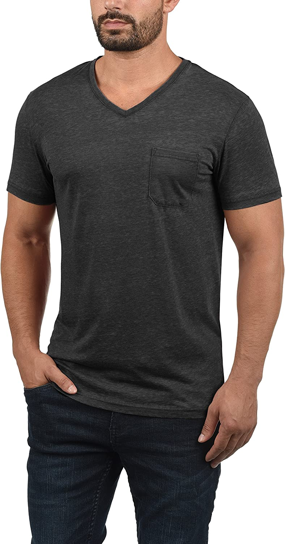 !Solid Theon Herren T-Shirt Kurzarm Shirt mit V-Ausschnitt Black (9000)