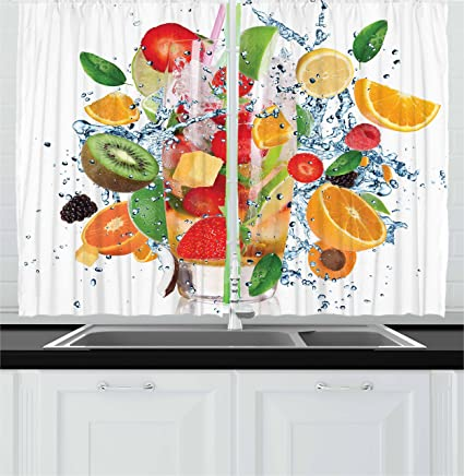 Fruit Kitchen Curtains Cool Decorating Design
