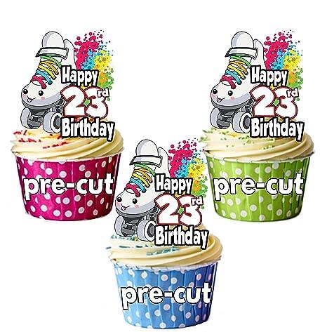 Patines precortados - 23 cumpleaños - comestibles para ...