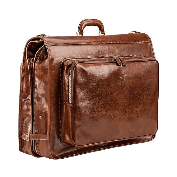c8297c12cc1d Maxwell-Scott® Luxury Tan Brown Leather Garment Carrier / Suit ...