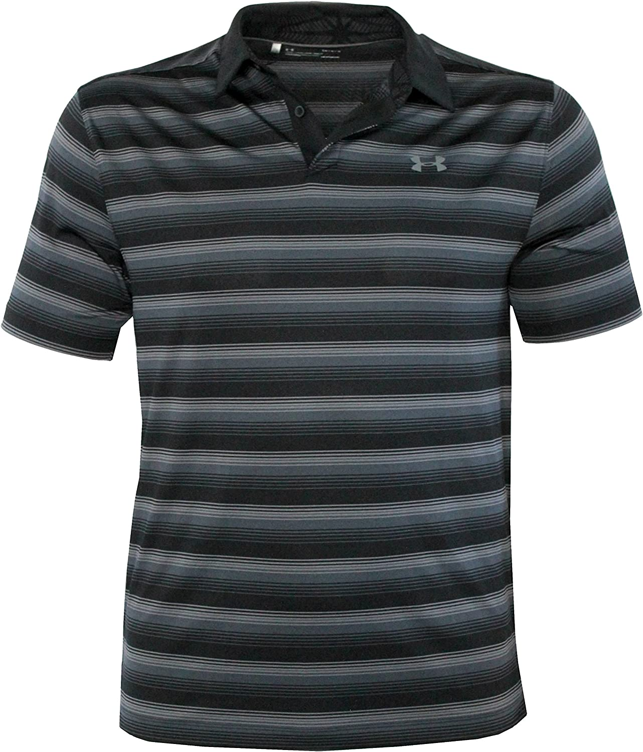 Under Armour Mens Performance Golf Polo CoolSwitch Shirt Striped ...