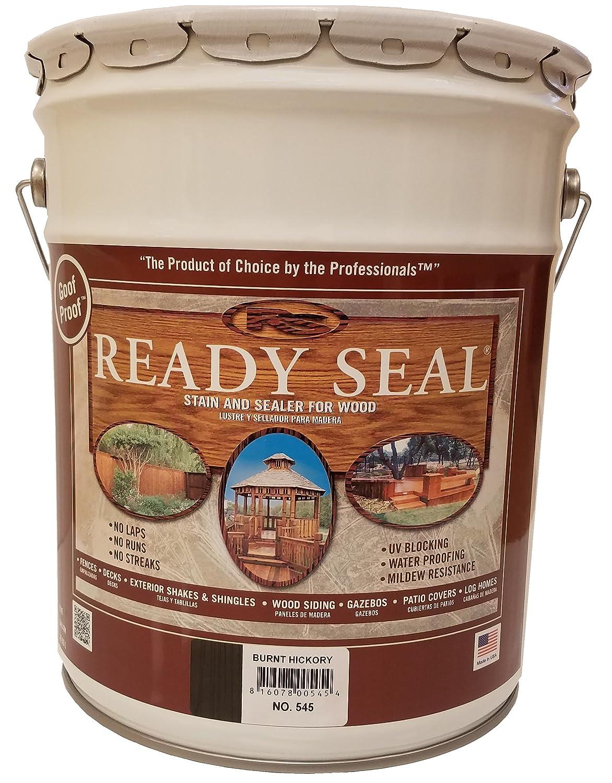 Amazon.com: Ready Seal 520 5-Gallon Pail Redwood Exterior Wood Stain ...