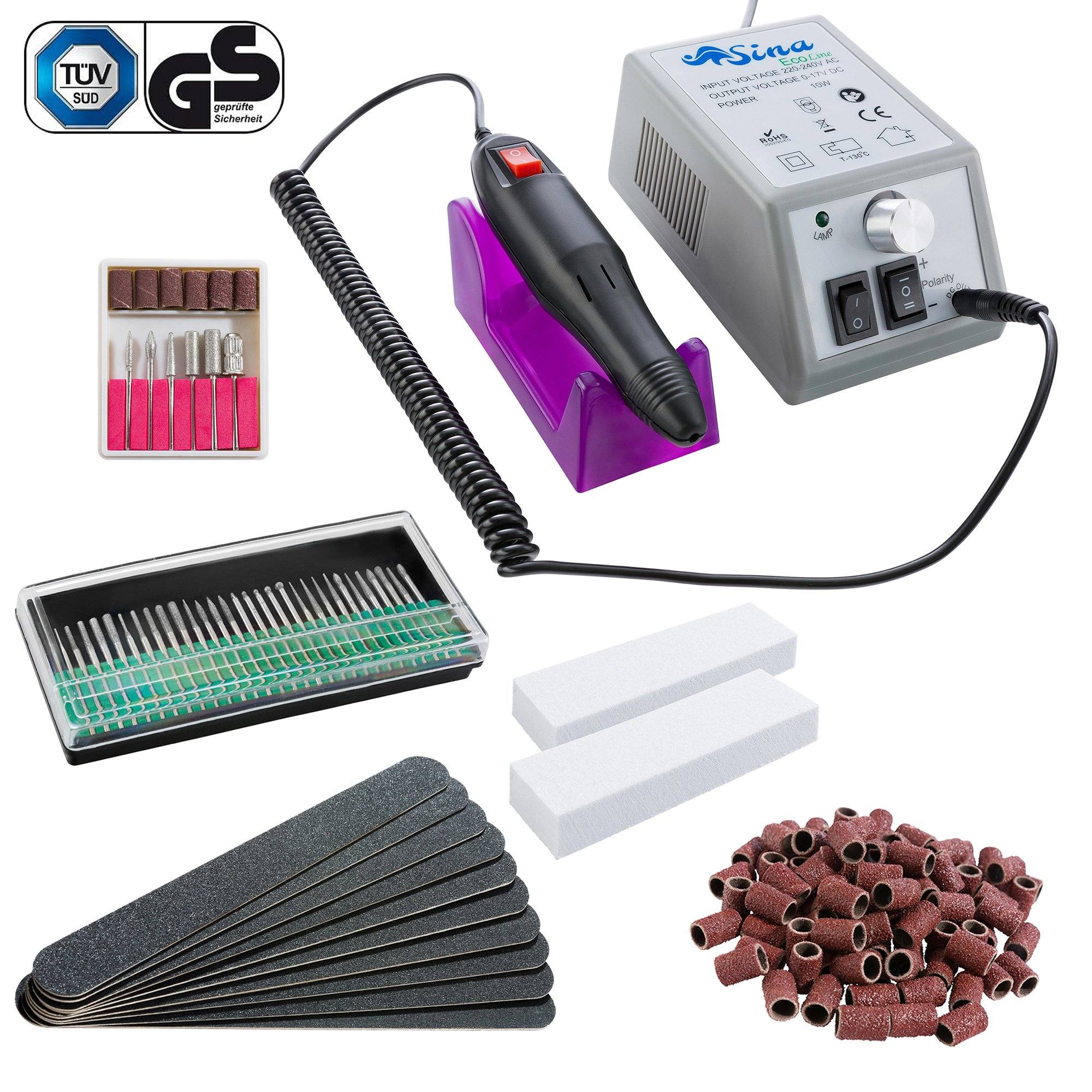 Sina Kit Ponceuse Prof Electrique Lime Ongles Manucure product image