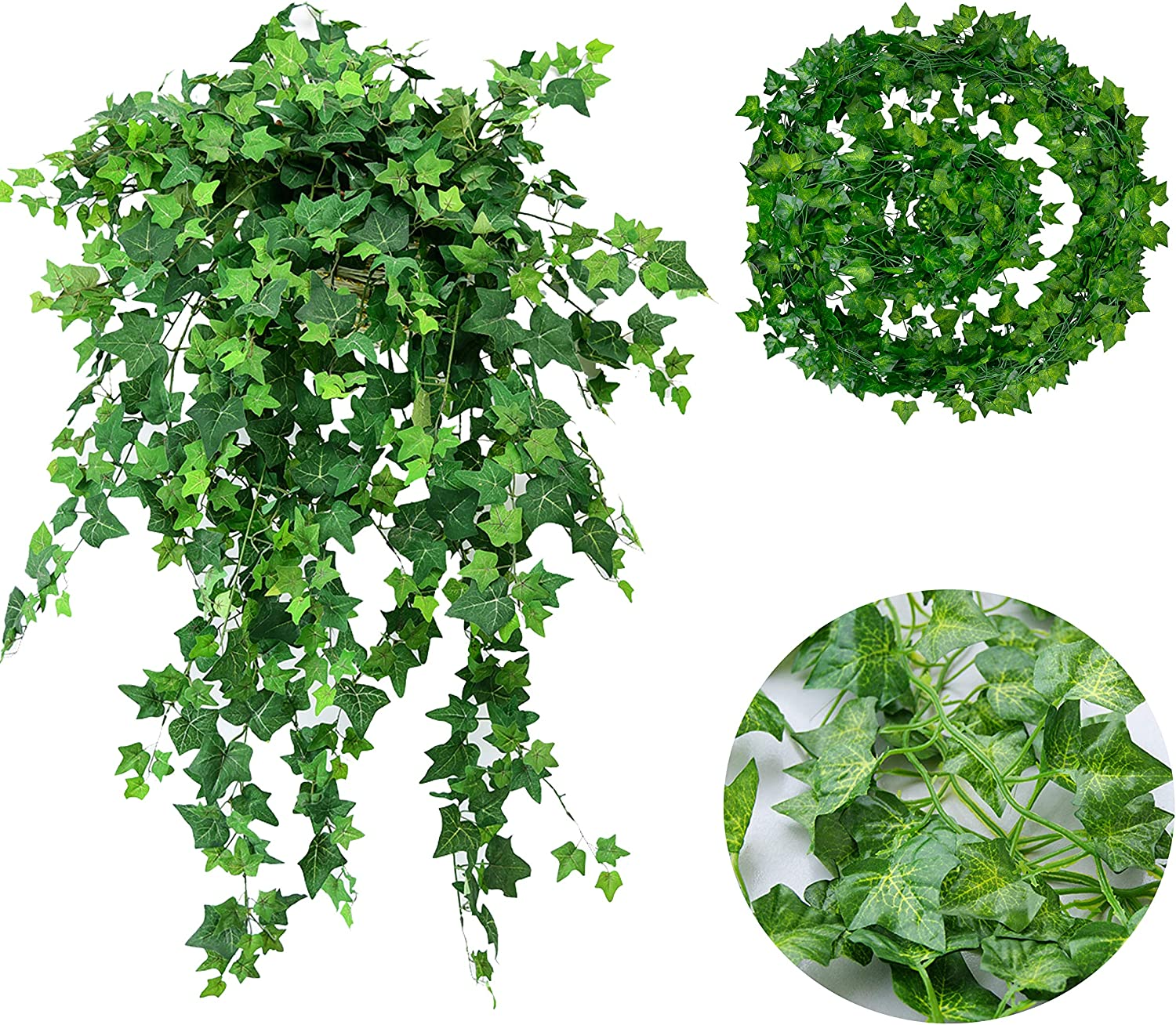 Amazon Com Fake Ivy Artificial Ivy Leaves Greenery Garlands
