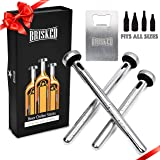 Beer Chiller Sticks for Bottles Set | 3 Stainless Steel Cooling Chillers | Christmas Gift Accessories | Cooler Gag Idea for Mens Birthday Gifts