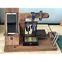 Organizador de escritorio o mesa de noche. Ensamblado en madera de primera calidad y entintado a mano a gusto del cliente. Decoración vintage industrial, muebles rústicos para estilo urbano, farmhouse.