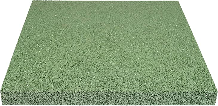 Qualit/äts Fallschutzmatte 500x500x30mm in Grau aus Gummi-Recyclinggranulat inkl Steckverbinder