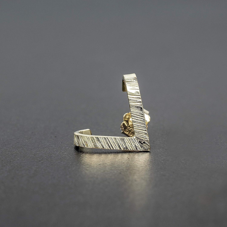 Einzelner Ohrring 14K Wei/ßgold-Ohrring f/ür Herren Wei/ßgold-Ohrring Massivgold-Ohrring Herren Goldohrring Herren Wei/ßgold-Herren Geschenk f/ür Herren Schmuck