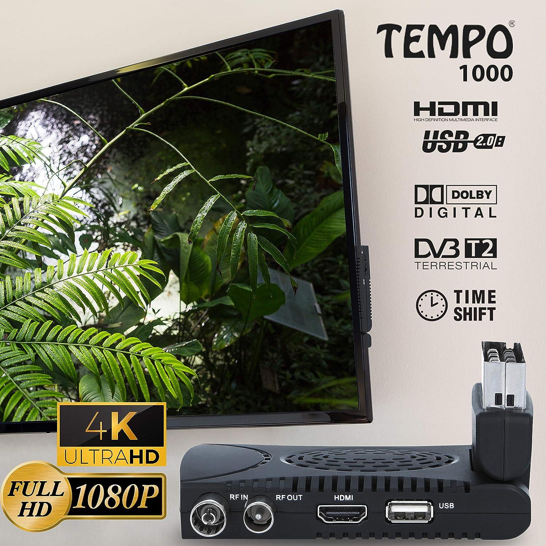 Tempo 1000 Decodificador TDT Terrestre: Amazon.es: Electrónica