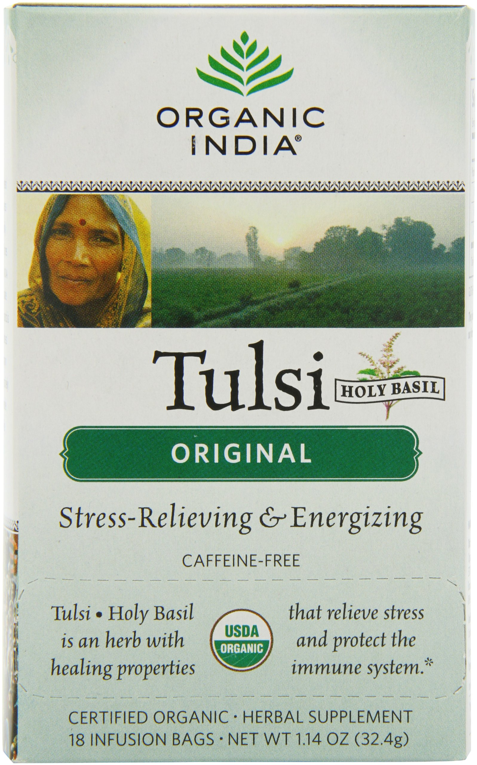 Organic India: Tulsi Original, 18 bags (2 pack)