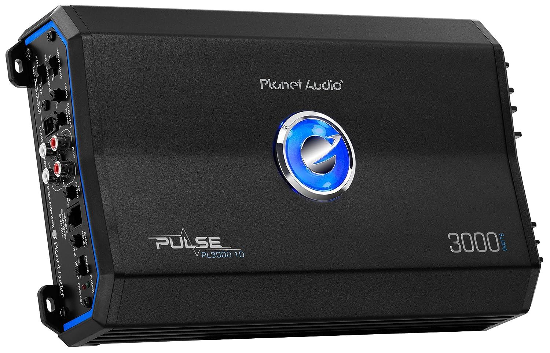 Planet Audio PL3000.1D Pulse 3000 Watt 1 Ohm Stable Class D Monoblock Car Amplifier with Remote Subwoofer Control