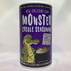 Monster Creole Seasoning from New Orleans (No MSG Blend) - 6 Ounce Shaker