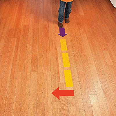 Fun Express Floor Clings - Dash Lines & Arrows - 12 Pieces - Educational and Learning Activities for Kids: Toys & Games