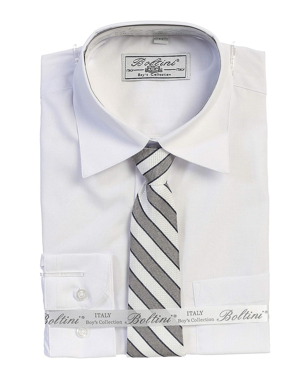 Boltini Kids Boys Dress Shirt /& Necktie Set