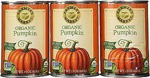 Includes Farmers Market Pumpkin Puree 100% Organic 15oz (Pack of 3)
