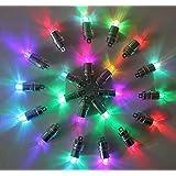 LED 汎用 ライト 光る風船 用 ランプ ホワイト 風船に取り付け可能 LEDライト / LED風船 / 豆電球 / 豆ライト / 小型 / 光るバルーン / ミニライト / 光る気球 / 工作用 / ランプ / パーツ / DIY 自作 / お祭り / イベント / 風船 / 気球 (20個) (レインボー)