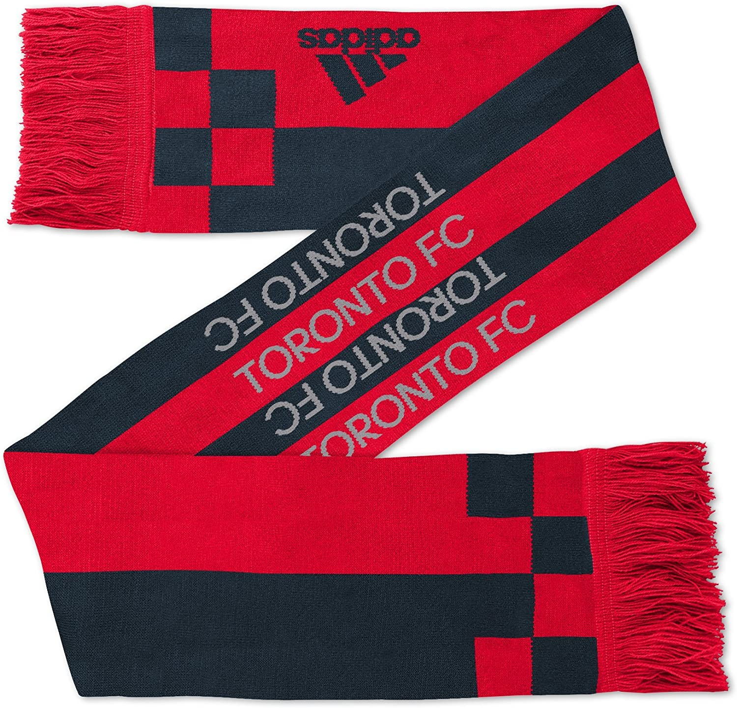 """MLS Toronto Fc Youth Outerstuff """"Fan Stripe"""" Scarf, Team Color, Youth One Size : Clothing"""