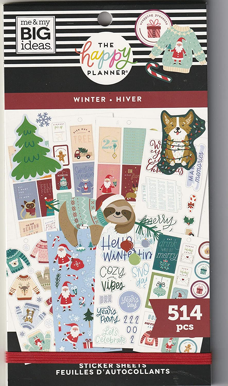 The Happy Planner Sticker Value Pack - Scrapbooking Supplies - Winter Season Theme - Multi-Color - Great for Projects, Scrapbooks & Albums - 30 Sheets, 514 Stickers Total