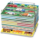 Melissa & Doug Wire Puzzle Storage Rack, Holds up to 12 Puzzles