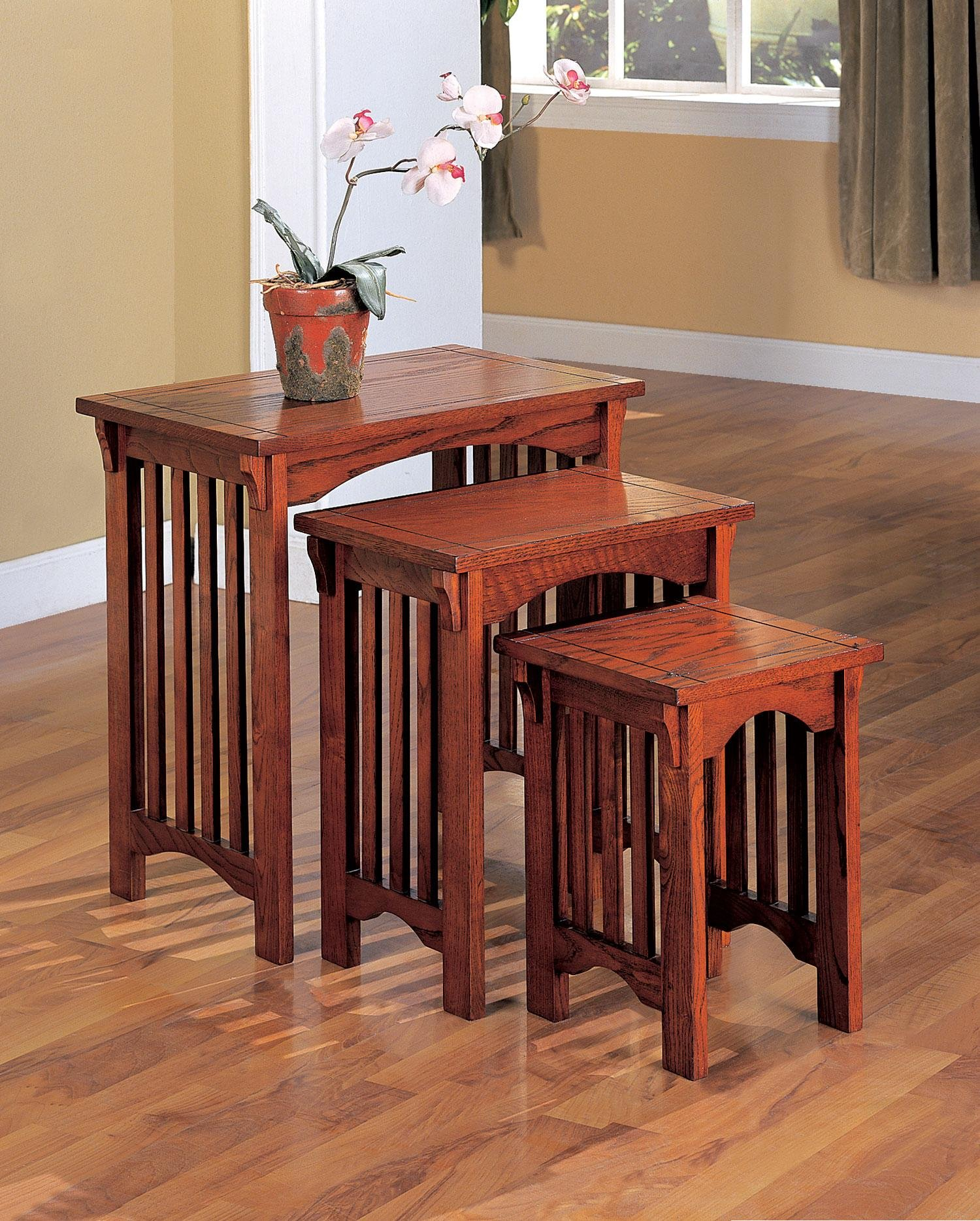 3-piece Nesting Table Set Warm Brown by Coaster Home Furnishings