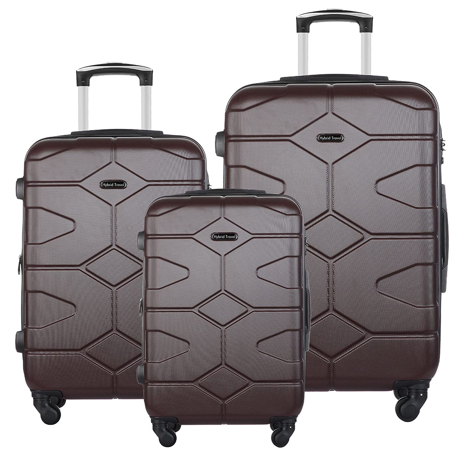 3 PC Luggage Set Durable Lightweight Hard Case Spinner Suitecase LUG3 SS505A BLUE