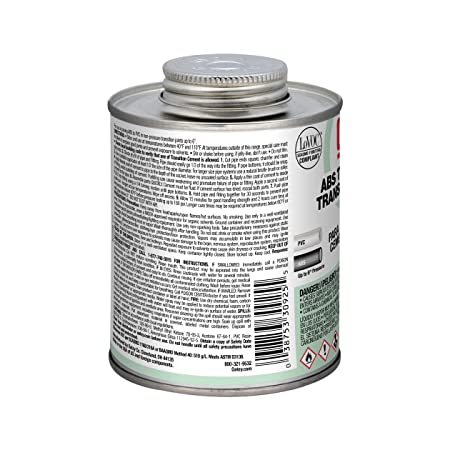 Amazon.com: Oatey 30925 ABS to PVC Transition Cement, Green, 16-Ounce: Home Improvement