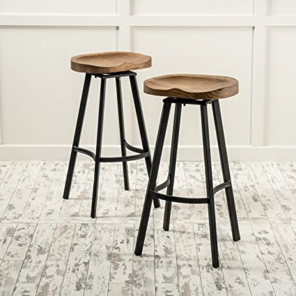 Amazoncom Albia 32 Inch Swivel Barstool Set Of 2 By Christopher