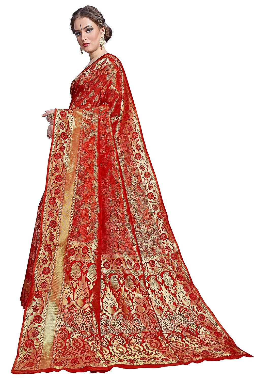 Red Color Women's Kanchipuram Art Silk Saree