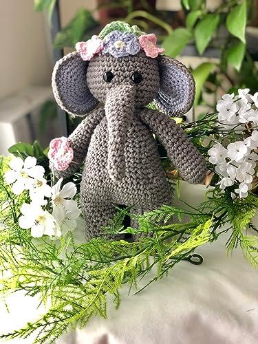 Large Crochet Elephant Ears (Amigurumi | Crochet elephant pattern ... | 500x375