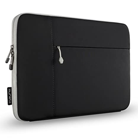 1e18cc9f79 Amazon.com  Runetz MacBook Pro 15 inch Sleeve Neoprene 15 inch Laptop  Sleeve Case with Accessory Pocket Cover Newest 2019 2018 - Black-Gray   Computers   ...