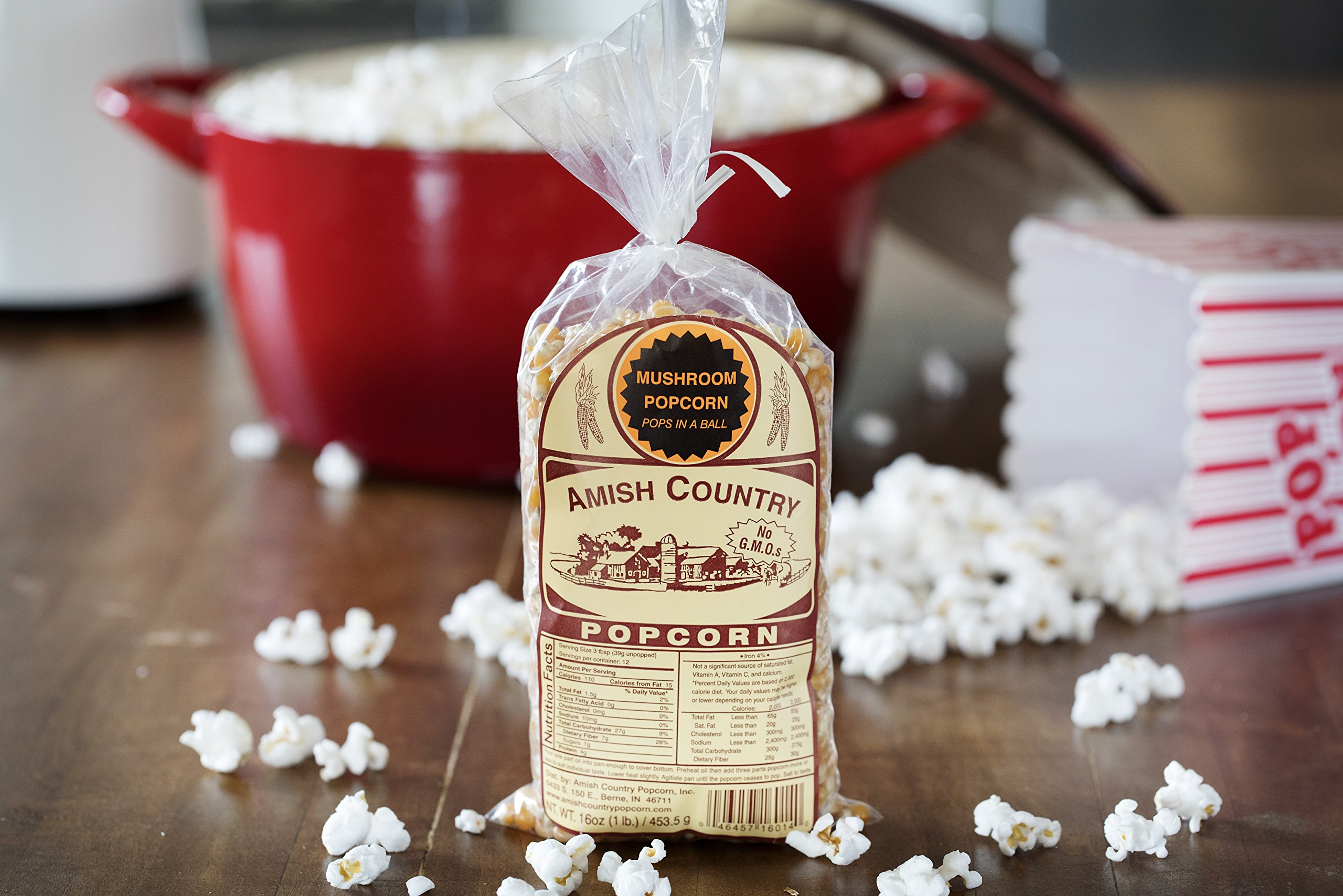 Amish Country Popcorn - Mushroom Popcorn (1 Pound Bag) Old Fashioned, Non GMO, and Gluten Free - with Recipe Guide by Amish Country Popcorn (Image #3)