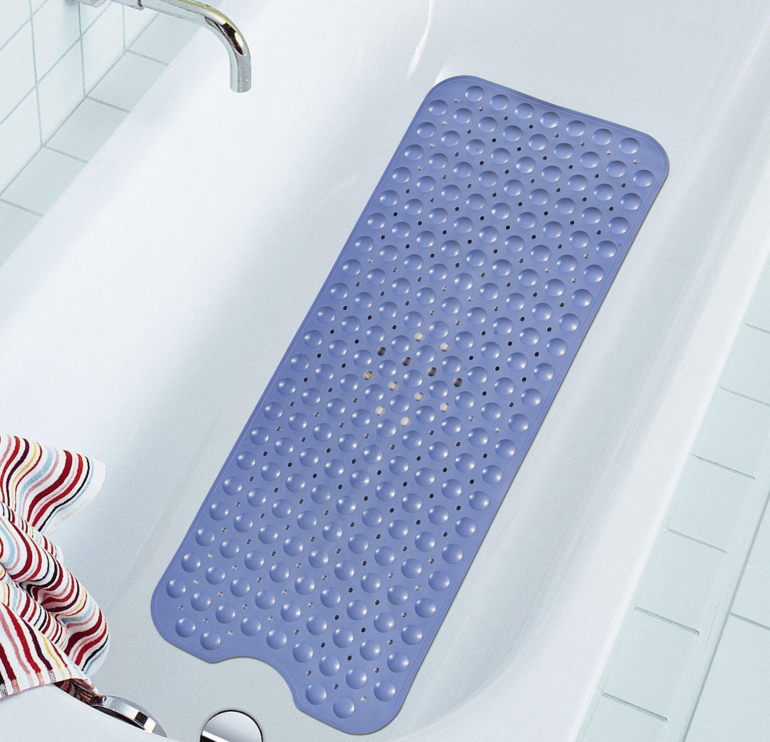 Extra Long Bathtub Mats Anti-Slip Tub Mat Anti-Bacterial Shower Mat ...