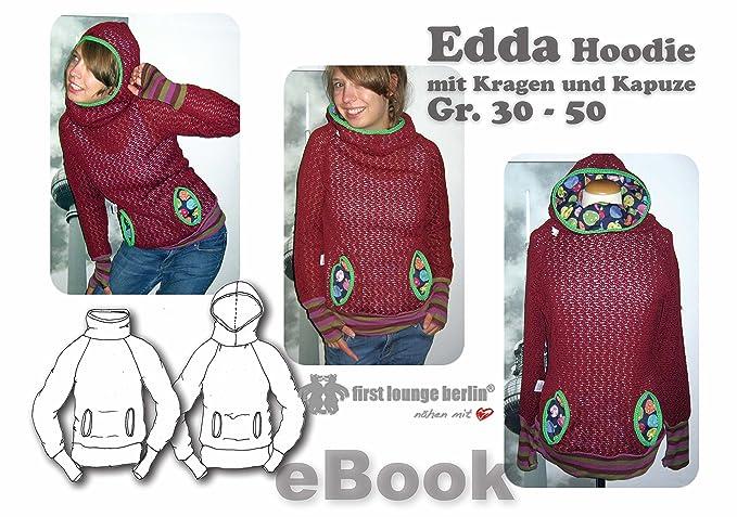 Edda Nähanleitung mit Schnittmuster auf CD für Sweatshirt in Gr. 30 ...