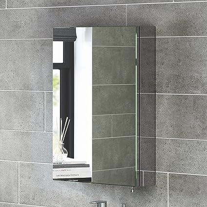 Soak Armadietto da Bagno con Specchio, Anta Singola, Design Moderno ...