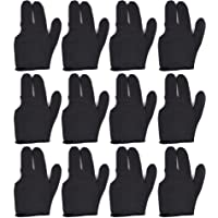 T&R Sports - Guantes de billar (12 unidades), color negro