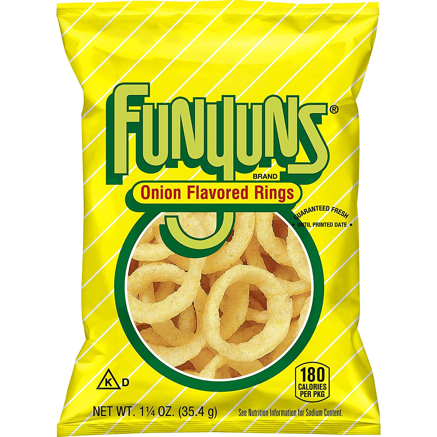 Funyuns Onion Flavored Rings, 1 25 Ounce (Pack of 64)