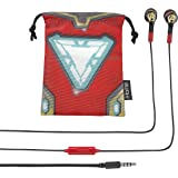 Avengers Infinity War Noise Isolating Earbuds with Built in Microphone and Pouch