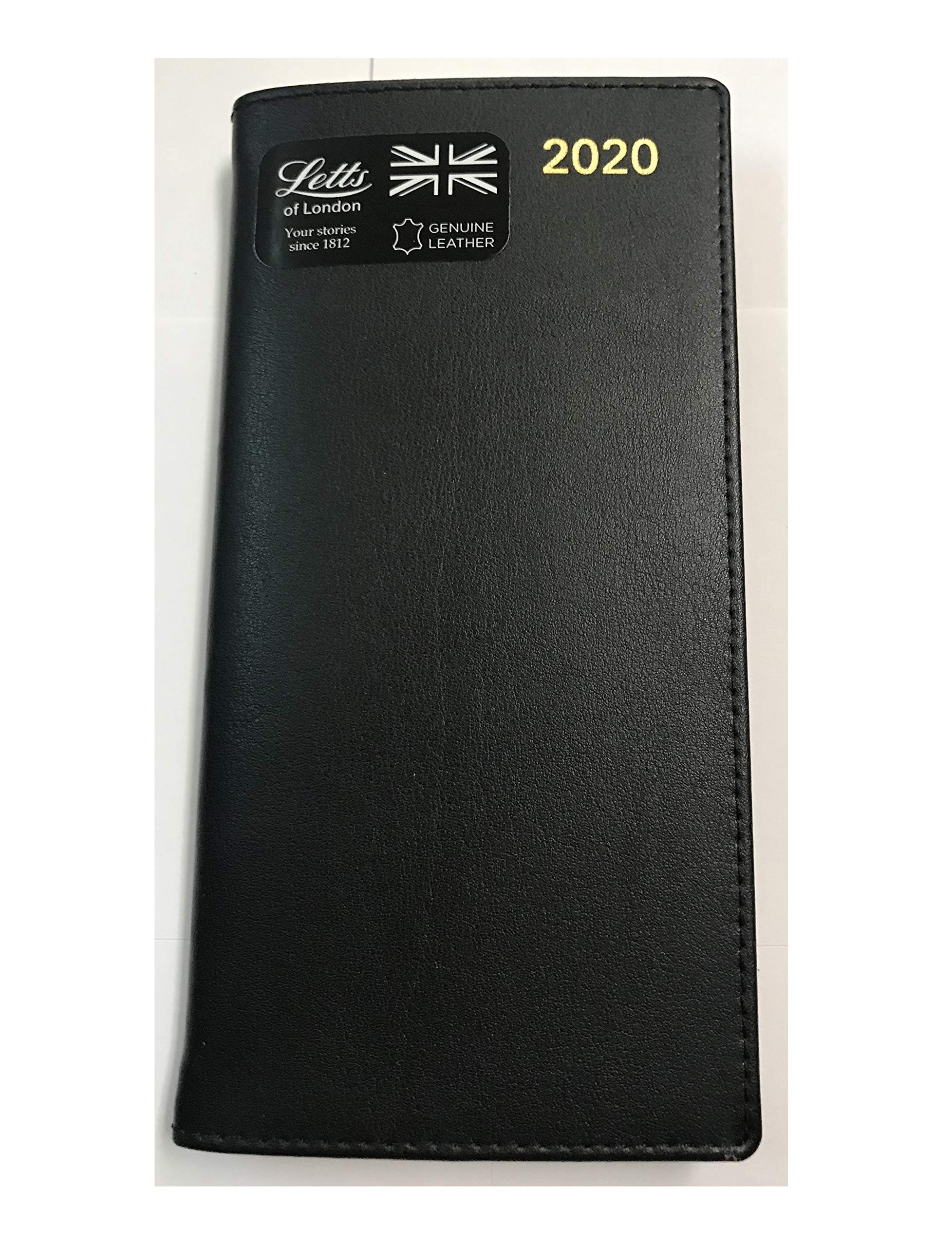 Letts of London 2020 Belgravia Rling Slim 33S Horizontal Week to View Diary (S Size) Calendar (Black) by Letts of London