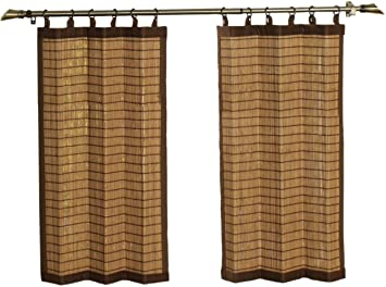 Curtains Ideas 36 inch tier curtains : Amazon.com: Bamboo Ring Top Curtain BRP07 2-Piece 48-Inch Wide x ...