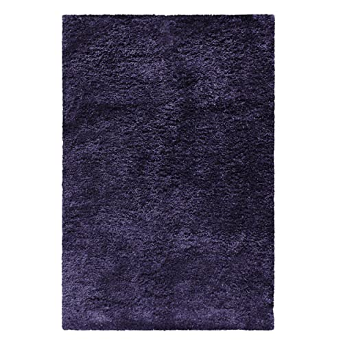 Superior Bresnan Collection Area Rug 4 x 6 – Kitchen,Dining, Living Room – Navy Blue