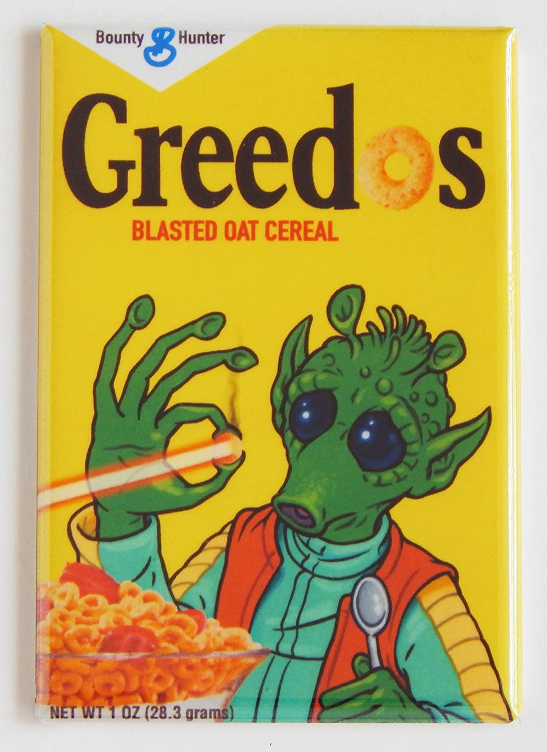 "Star Wars""Greedo Cereal Box"" Fridge Magnet (2 x 3 inches)"
